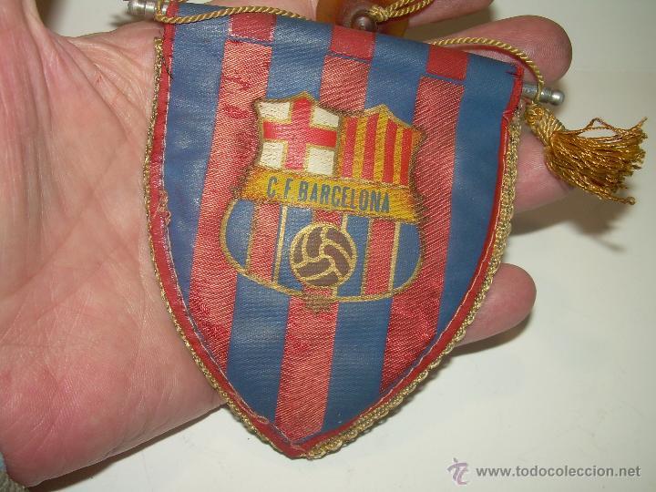 Coleccionismo deportivo: ANTIGUO Y RARO BANDERIN DE COCHE.......C.F. BARCELONA. - Foto 3 - 53109297