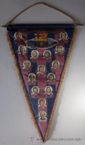 BANDERIN F.C. BARCELONA - TEMPORADA 1975/76 (Coleccionismo Deportivo - Banderas y Banderines de Fútbol)