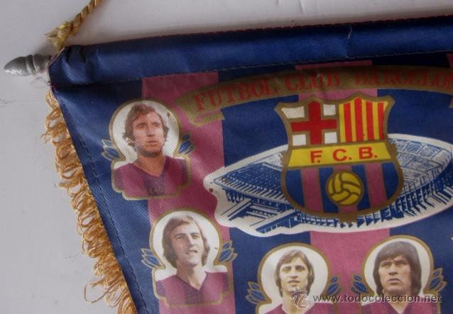 Coleccionismo deportivo: BANDERIN F.C. BARCELONA - TEMPORADA 1975/76 - Foto 2 - 53866677