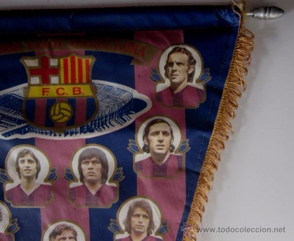 Coleccionismo deportivo: BANDERIN F.C. BARCELONA - TEMPORADA 1975/76 - Foto 3 - 53866677