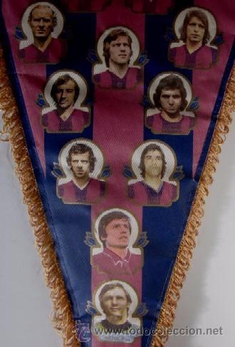 Coleccionismo deportivo: BANDERIN F.C. BARCELONA - TEMPORADA 1975/76 - Foto 4 - 53866677