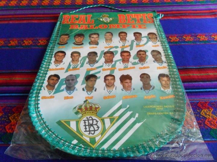 BANDERÍN REAL BÉTIS AÑOS 90 GRAN TAMAÑO. MBE Y RARO. REGALO CAMISA PEÑA BÉTICA. (Coleccionismo Deportivo - Banderas y Banderines de Fútbol)