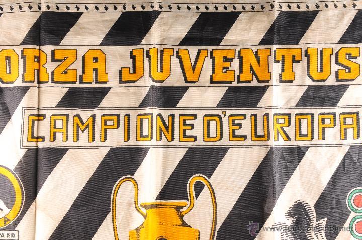 Coleccionismo deportivo: BANDERA FORZA JUVENTUS CAMPIONE DEUROPA - Foto 2 - 54748786