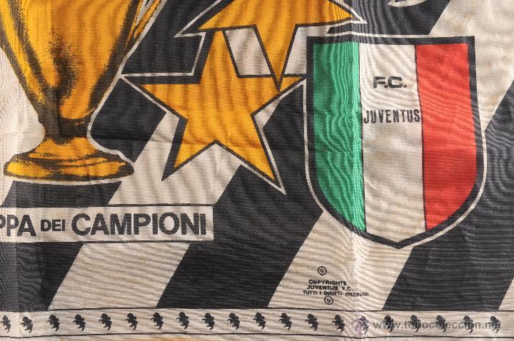 Coleccionismo deportivo: BANDERA FORZA JUVENTUS CAMPIONE DEUROPA - Foto 3 - 54748786