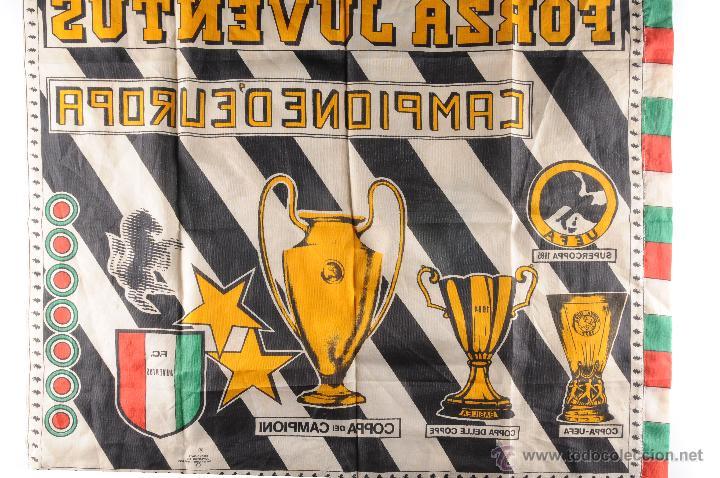 Coleccionismo deportivo: BANDERA FORZA JUVENTUS CAMPIONE DEUROPA - Foto 4 - 54748786