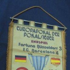 Coleccionismo deportivo: BANDERIN - FINAL XIX RECOPA DE EUROPA 1979 - FC BARCELONA FORTUNA DÜSSELDORF - . Lote 55021337