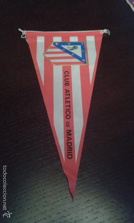 BANDERÍN DEL ATLÉTICO DE MADRID DE LOS AÑOS 70. PERFECTO ESTADO. (Coleccionismo Deportivo - Banderas y Banderines de Fútbol)