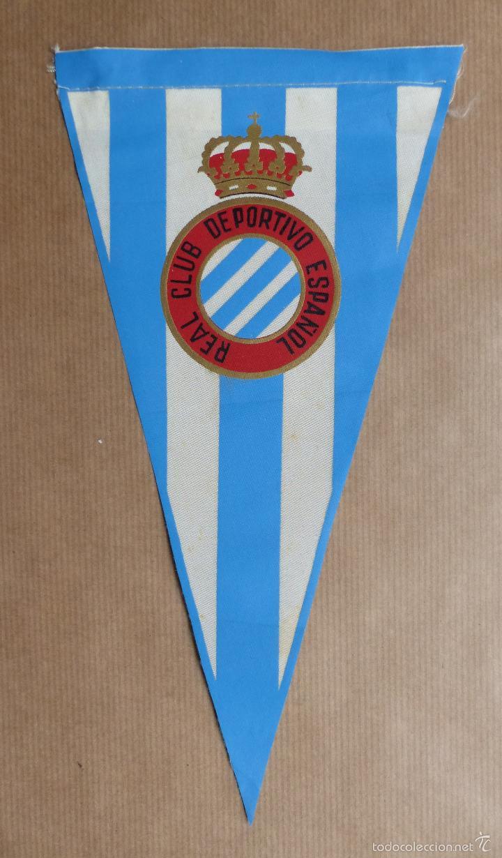 BANDERIN FUTBOL - R.C.D. ESPAÑOL - AÑOS 60 (Coleccionismo Deportivo -  Banderas y Banderines de 35940714172