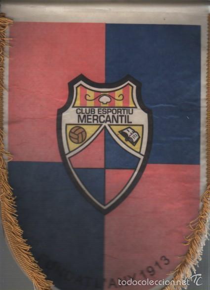 INTERESANTE BANDERIN DEL CLUB ESPORTIU MERCANTIL FUNDAT L, ANY 1913 - FUTBOL - BARCELONA (Coleccionismo Deportivo - Banderas y Banderines de Fútbol)