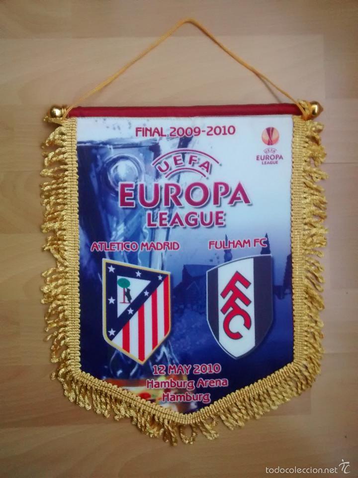 ATLÉTICO DE MADRID - FULHAM (FINAL EUROPE LEAGUE 2010) (Coleccionismo Deportivo - Banderas y Banderines de Fútbol)