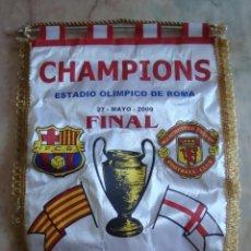 Coleccionismo deportivo: (TC-3) BANDERIN CHAMPIONS ESTADIO OLIMPICO DE ROMA 27 MAYO 2009 MANCHESTER UNITED BARCELONA. Lote 57677639