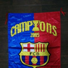 Coleccionismo deportivo: BANDERA F.C. BARCELONA CHAMPIONS 2005 . Lote 58556016