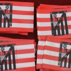 Coleccionismo deportivo: LOTE 9 BANDERINES ANTIGUOS PARA BICICLETA, ATLETICO DE MADRID, AÑOS 70. Lote 195419068