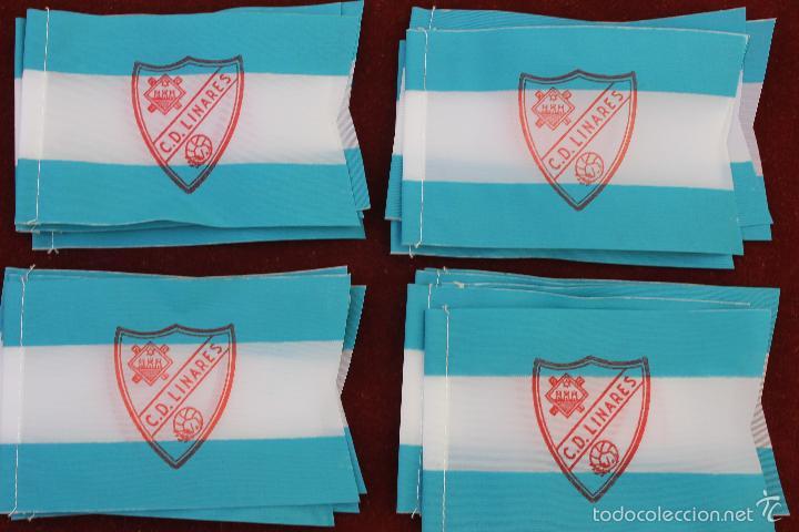 LOTE 20 BANDERINES ANTIGUOS PARA BICICLETA, CLUB DEPORTIVO LINARES, AÑOS 70 (Coleccionismo Deportivo - Banderas y Banderines de Fútbol)