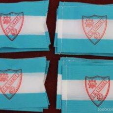 Coleccionismo deportivo: LOTE 20 BANDERINES ANTIGUOS PARA BICICLETA, CLUB DEPORTIVO LINARES, AÑOS 70. Lote 58829421