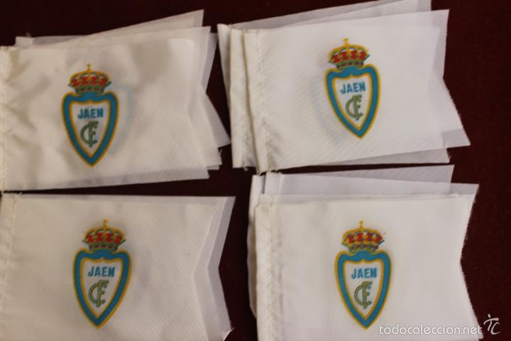 LOTE 20 BANDERINES ANTIGUOS PARA BICICLETA, CLUB DE FUTBOL JAEN, AÑOS 70 (Coleccionismo Deportivo - Banderas y Banderines de Fútbol)