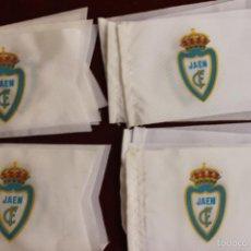 Coleccionismo deportivo: LOTE 20 BANDERINES ANTIGUOS PARA BICICLETA, CLUB DE FUTBOL JAEN, AÑOS 70. Lote 135996154