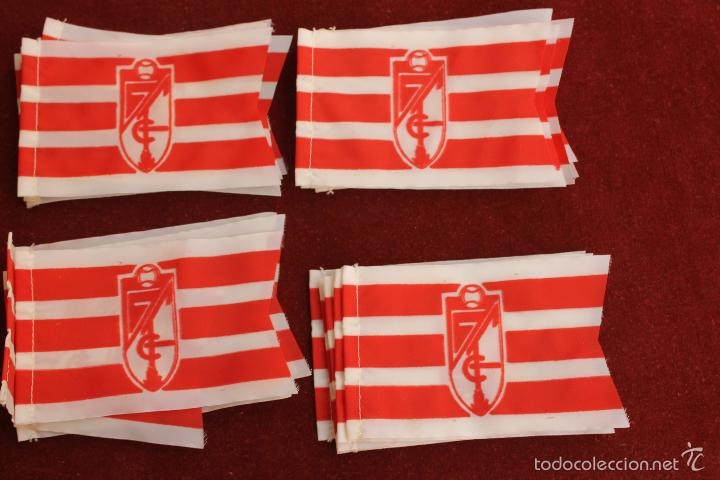 LOTE 20 BANDERINES ANTIGUOS PARA BICICLETA, CLUB DE FUTBOL GRANADA, AÑOS 70 (Coleccionismo Deportivo - Banderas y Banderines de Fútbol)