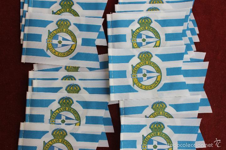 Coleccionismo deportivo: LOTE 20 BANDERINES ANTIGUOS PARA BICICLETA, REAL CLUB DEPORTIVO LA CORUÑA, AÑOS 70 - Foto 2 - 58829766