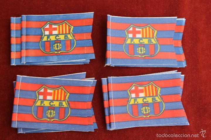LOTE 20 BANDERINES ANTIGUOS PARA BICICLETA, FUTBOL CLUB BARCELONA, AÑOS 70 (Coleccionismo Deportivo - Banderas y Banderines de Fútbol)