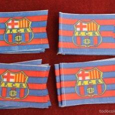 Coleccionismo deportivo: LOTE 20 BANDERINES ANTIGUOS PARA BICICLETA, FUTBOL CLUB BARCELONA, AÑOS 70. Lote 106598212