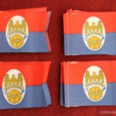 Coleccionismo deportivo: LOTE 20 BANDERINES ANTIGUOS PARA BICICLETA, PONTEVEDRA CLUB DE FUTBOL, AÑOS 70. Lote 60459979