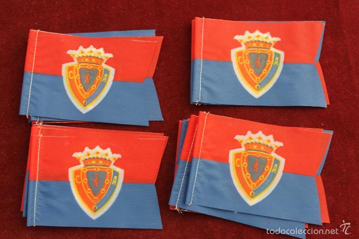 LOTE 20 BANDERINES ANTIGUOS PARA BICICLETA, CLUB DEPORTIVO ARAGON ZARAGOZA?, AÑOS 70 (Coleccionismo Deportivo - Banderas y Banderines de Fútbol)