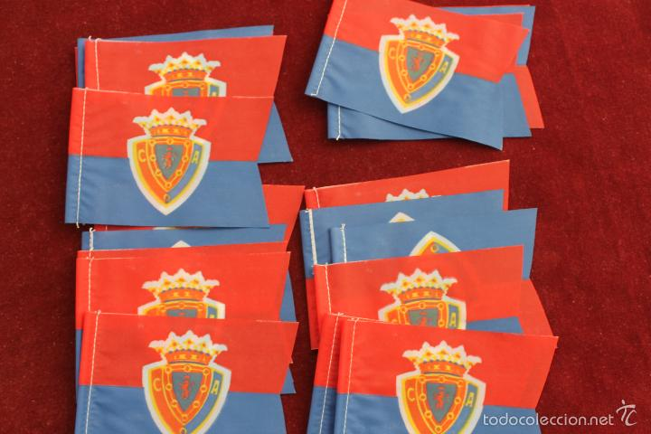 Coleccionismo deportivo: LOTE 20 BANDERINES ANTIGUOS PARA BICICLETA, CLUB DEPORTIVO ARAGON ZARAGOZA?, AÑOS 70 - Foto 2 - 58830811