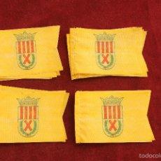 Coleccionismo deportivo: LOTE 20 BANDERINES ANTIGUOS PARA BICICLETA, CLUB DEPORTIVO SAN ANDRES FUTBOL Nº 2, AÑOS 70. Lote 58831076