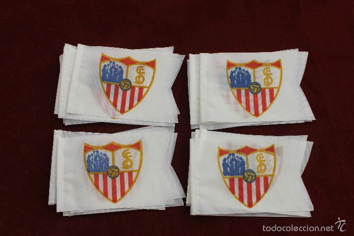 LOTE 20 BANDERINES ANTIGUOS PARA BICICLETA, SEVILLA CLUB DE FUTBOL, AÑOS 70 (Coleccionismo Deportivo - Banderas y Banderines de Fútbol)