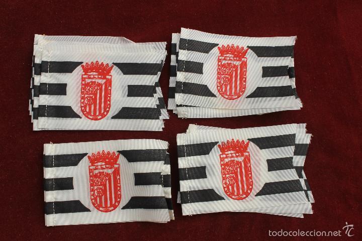LOTE 20 BANDERINES ANTIGUOS PARA BICICLETA, CLUB DEPORTIVO BADAJOZ, AÑOS 70 (Coleccionismo Deportivo - Banderas y Banderines de Fútbol)