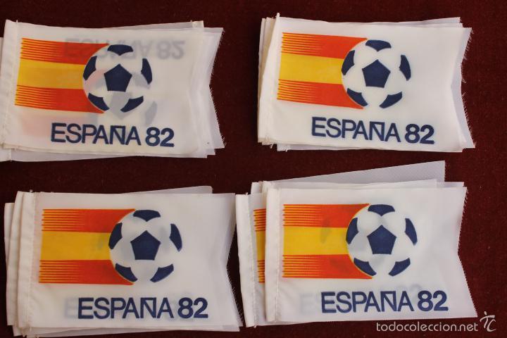 LOTE 20 BANDERINES ANTIGUOS PARA BICICLETA, MUNDIAL 82 ESPAÑA, AÑOS 80 (Coleccionismo Deportivo - Banderas y Banderines de Fútbol)