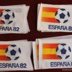 Coleccionismo deportivo: LOTE 20 BANDERINES ANTIGUOS PARA BICICLETA, MUNDIAL 82 ESPAÑA, AÑOS 80. Lote 106576132
