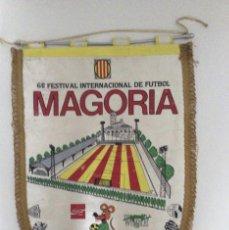 Coleccionismo deportivo: BANDERIN FUTBOL 6º FESTIVAL MAGORIA BARCELONA 1991 -BURGOS - SANTS - BOYS ARTURO - ESPORTS WEMBLEY. Lote 59640451
