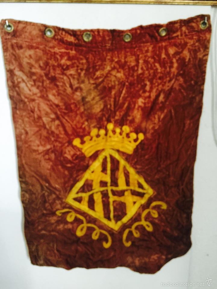 ESTANDARTE DE BARCELONA 1920'S. (Coleccionismo Deportivo - Banderas y Banderines de Fútbol)
