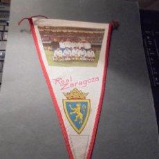Coleccionismo deportivo: ANTIGUO BANDERIN AÑOS 60 REAL ZARAGOZA - 27X15 CM. . Lote 61815256