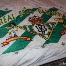 Coleccionismo deportivo: BANDERA VINTAGE DEL REAL BETIS COMO CAMPEON DE LA COPA DEL REY 1977 UNA RELIQUIA FLAG. Lote 64351871