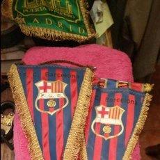 Coleccionismo deportivo: CURIOSOS Y ANTIGUOS BANDERINES DEL FC BARCELONA. . Lote 65253987