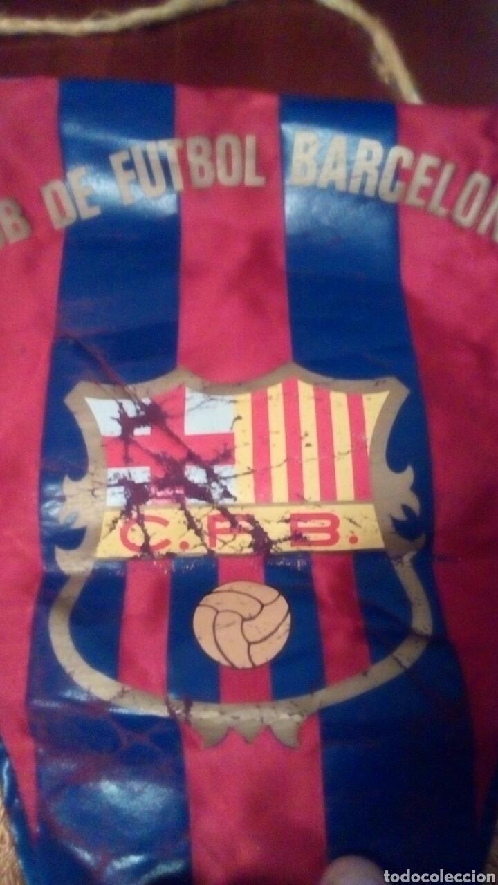 Coleccionismo deportivo: Banderín del F Barcelona principio años 70 original. - Foto 2 - 65700767