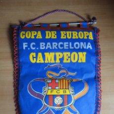 Coleccionismo deportivo: BANDERIN FC BARCELONA CAMPEON COPA DE EUROPA 1992 20 MAYO 92. Lote 67103209