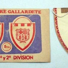 Coleccionismo deportivo: BANDERÍN FÚTBOL VALENCIA CF SOBRE GALLARDETE. Lote 74930153