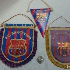 Coleccionismo deportivo: LOTE DE TRES BANDERINES DEL F.C.BARCELONA. Lote 70326577