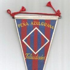Coleccionismo deportivo: MINI BANDERIN PEÑA AZULGRANA. Lote 71726491
