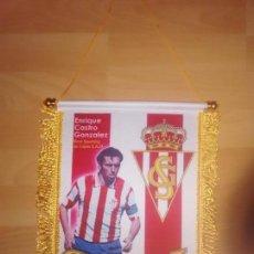 Coleccionismo deportivo: BANDERIN QUINI SPORTING DE GIJÓN. Lote 72064479