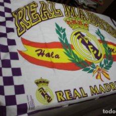 Coleccionismo deportivo: BANDERA DE FUTBOL DEL REAL MADRID OFICIAL ANTIQUISIMA VINTAGE HALA MADRID GRANDE FLAG. Lote 73462115
