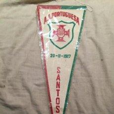 Coleccionismo deportivo: ANTIGUO BANDERIN ASSOCIAÇÃO ATLÉTICA PORTUGUESA (SANTOS), NUNCA USADO. 45CM, BRASIL. Lote 75870639