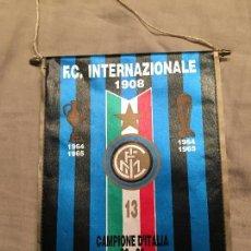 Coleccionismo deportivo: BANDERÍN INTER DE MILAN, INTERNAZIONALE, CAMPEÓN DE ITALIA 88-89, SIN ESTRENAR. . Lote 75871843