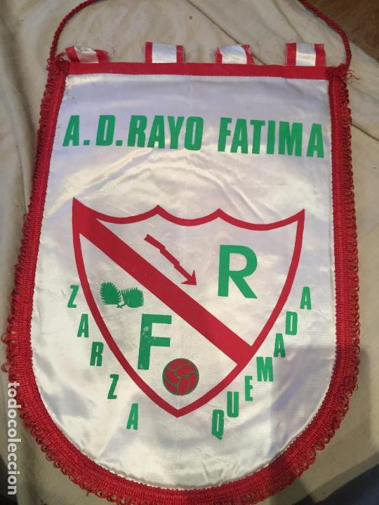 GRAN BANDERÍN ANTIGUO, A.D. RAYO FATIMA, ZARZAQUEMADA. 44CM (Coleccionismo Deportivo - Banderas y Banderines de Fútbol)
