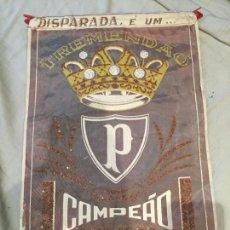 Coleccionismo deportivo: EXTRAODINARIO BANDERÍN DE FUTBOL, BRASIL, TREMENDAO CAMPEÁO PAULISTA, 1966, ORIGINAL. UNICO. 40X26. Lote 204974007