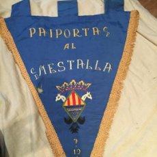 Coleccionismo deportivo: PAIPORTA C.F. AL C.D. MESTALLA, VALENCIA, 1969, GRAN BANDERÍN, REGALO, ÚNICO! . Lote 75905067